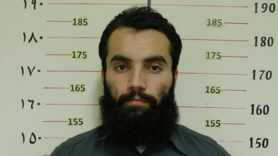Anas Haqqani, a senior leader of the Haqqani network, arrested by the Afghan Intelligence Service (NDS) in Khost province is seen in this handout picture released October 16, 2014