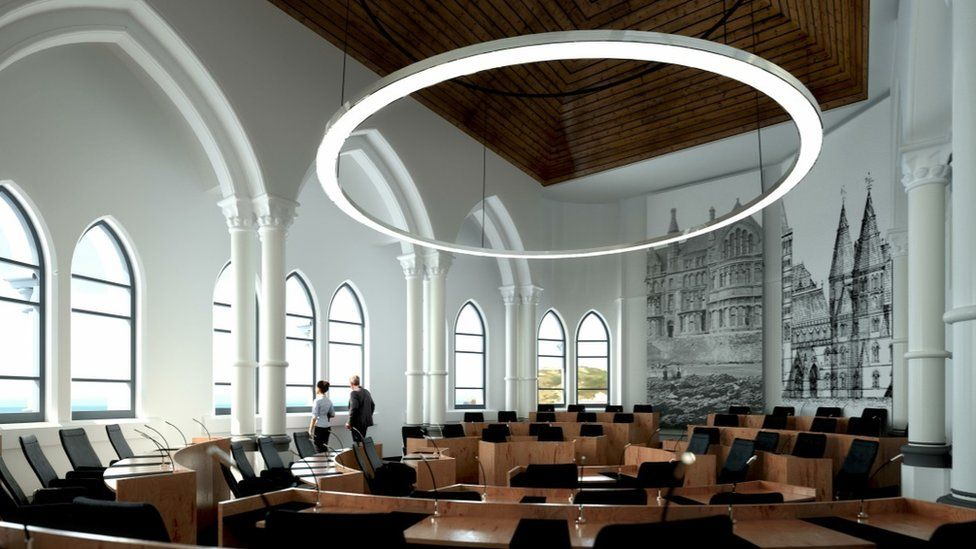 Artist impression of redeveloped Old College, Aberystwyth