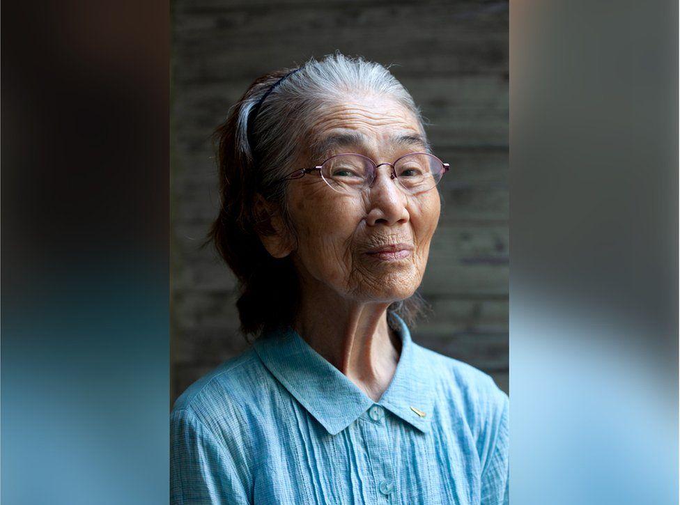 Reiko Hada poserar för ett porträtt