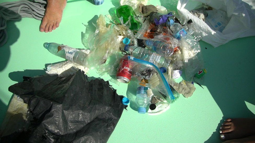image of the plastic found in the sea