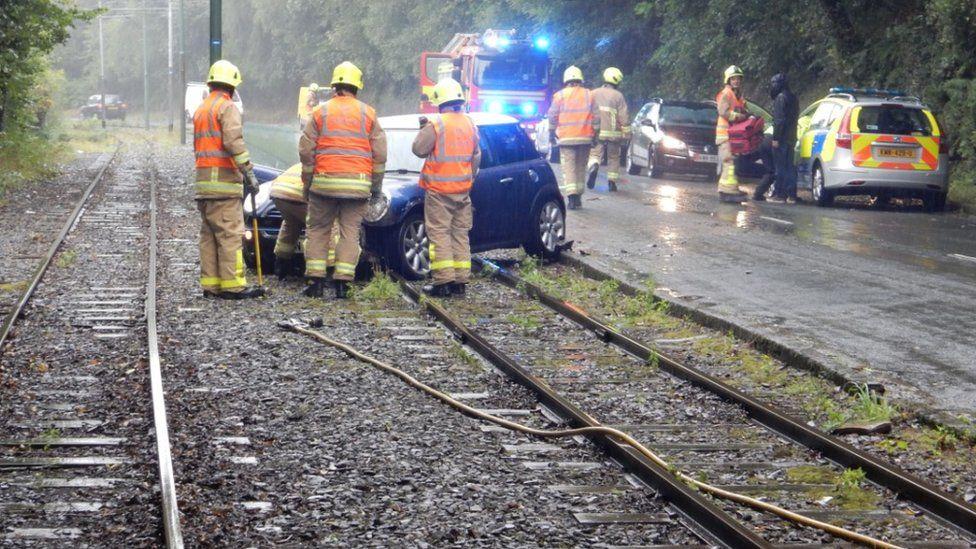 Tram crash