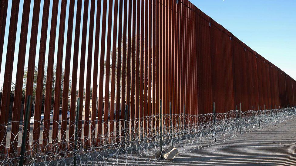 Border fence in California