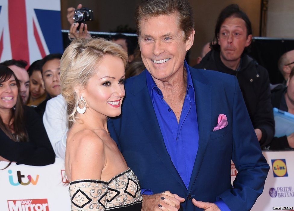 The Hoff with his girlfriend Hayley Roberts