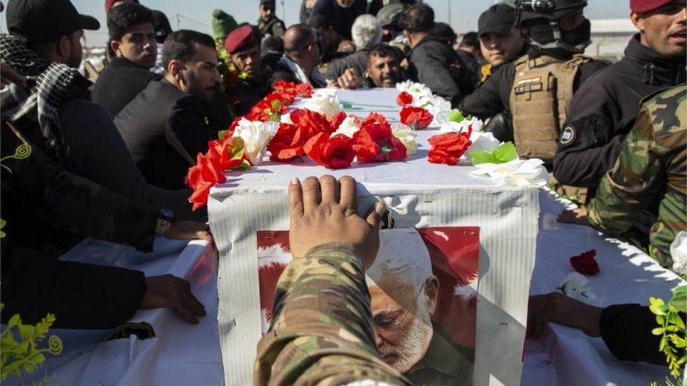 Funeral of Abu Mahdi al-Muhandis in Basra (07/01/20)