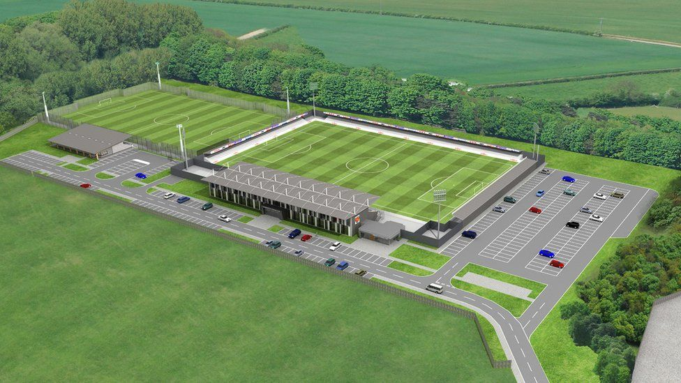 Artist's impression of Cambridge City FC at Sawston
