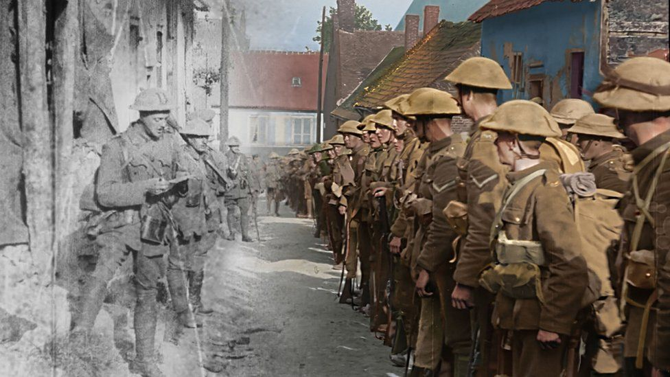 An image from Peter Jackson's 3D film about the First World War