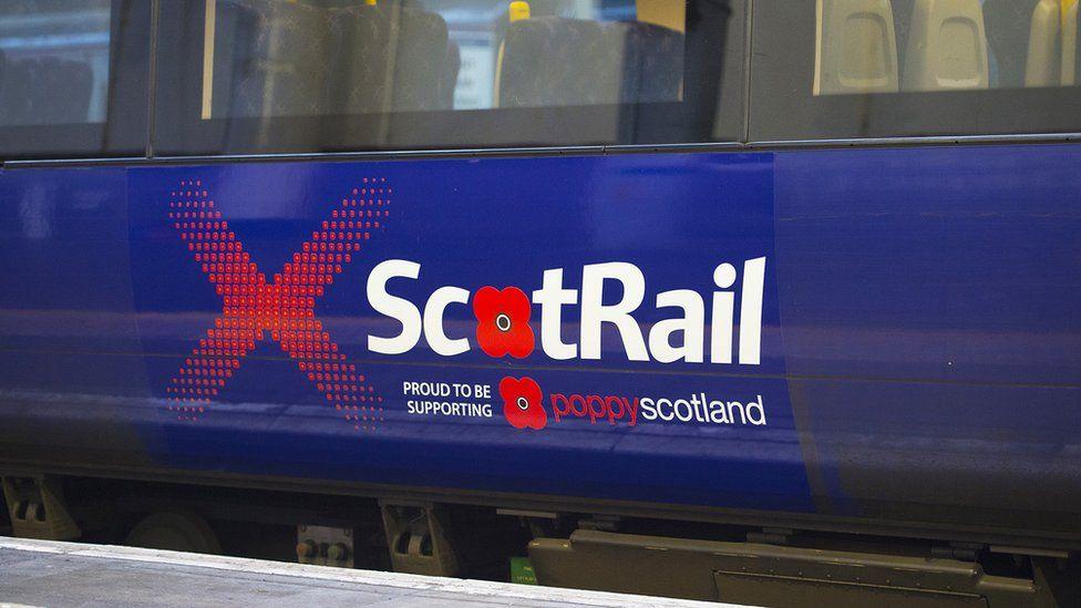 Poppy logo on train