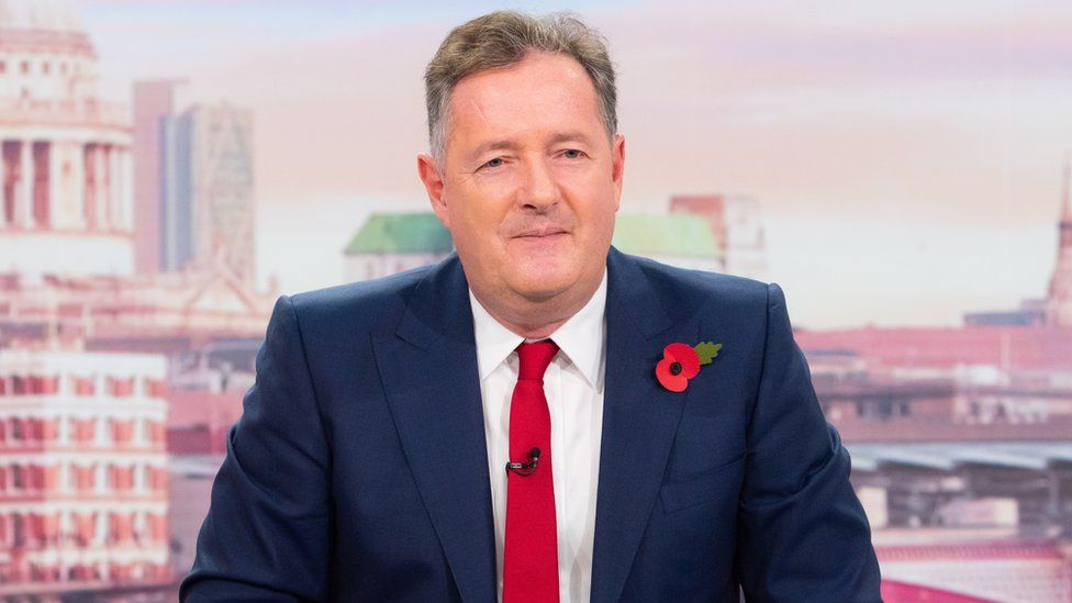 Piers Morgan on the set of Good Morning Britain