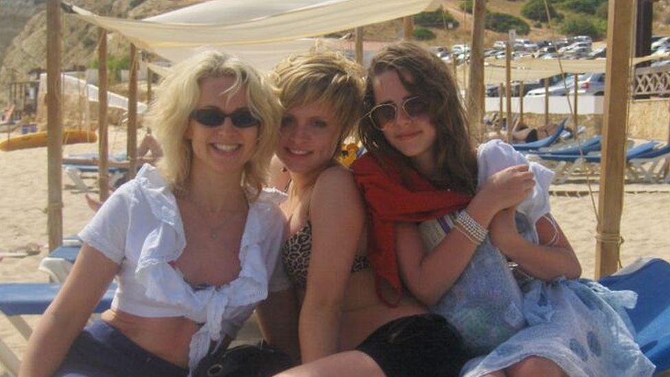 Deborah with daughters Chloe and Hannah