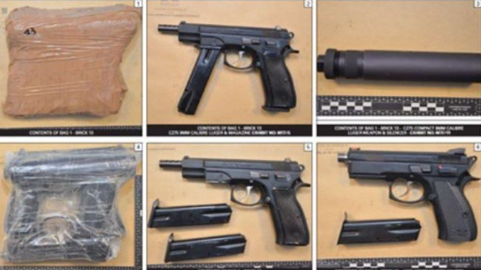 Guns, silencers and drugs