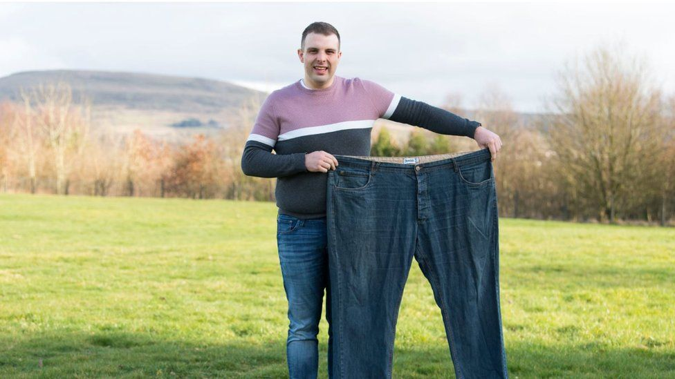 Dean Woods with his old jeans