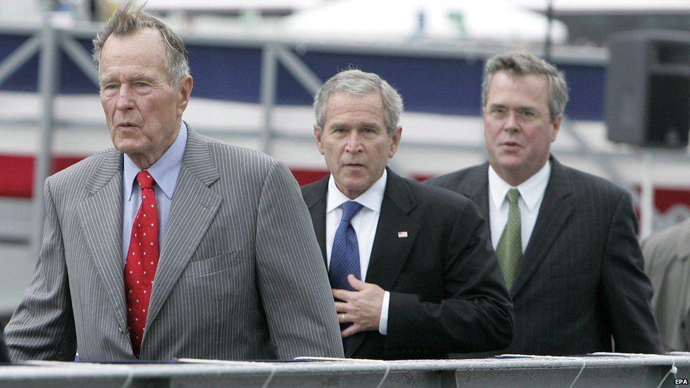 George H W Bush, George W Bush, and Jeb Bush