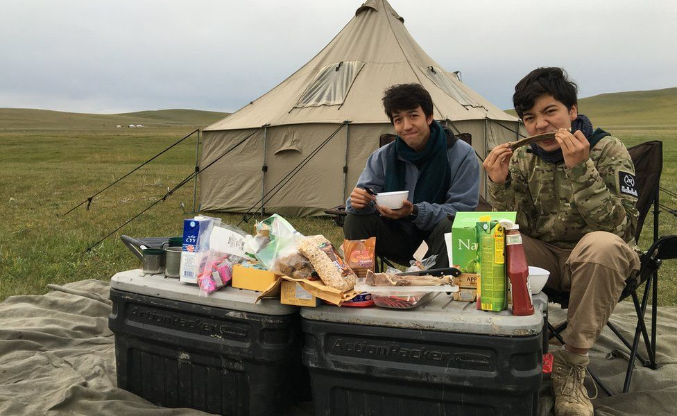 Jim and Tommy in Mongolia