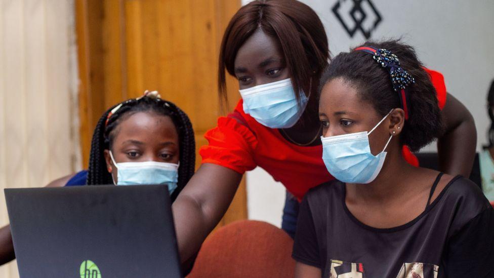 Girls attending a session at Kumasi Hive in Kumasi, Ghana