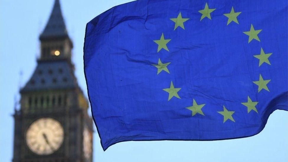 Big Ben and EU flag
