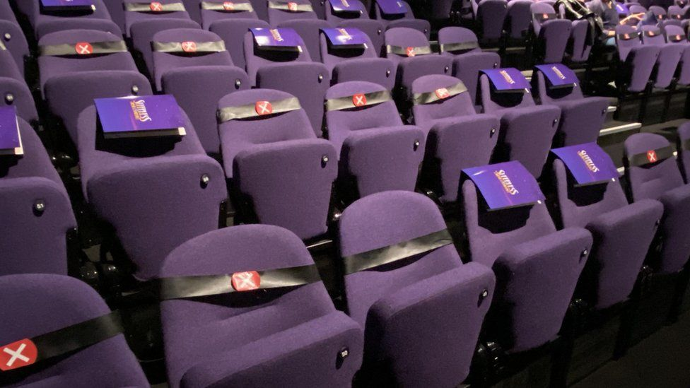 The seats in the Troubadour Theatre, Wembley Park