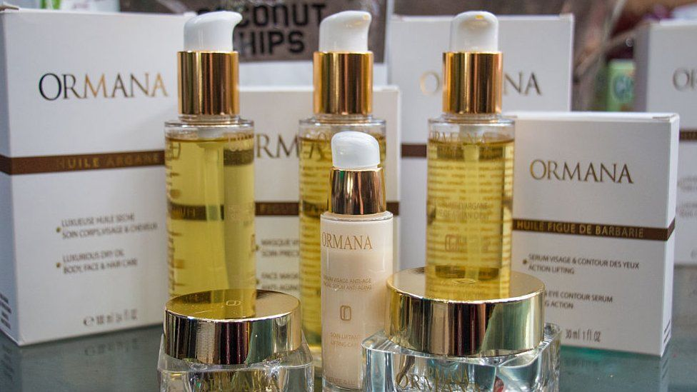 Cosmetic products containing argan oil