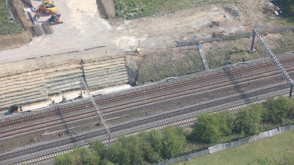 Roade rail accident site