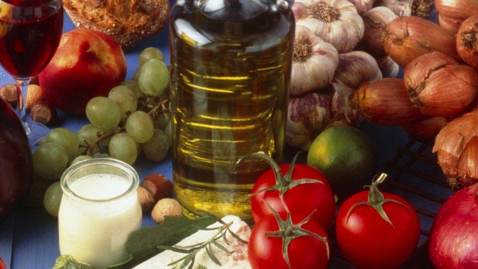 Food and drink in a Mediterranean diet