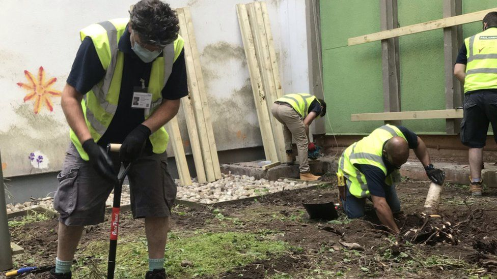 London Nightingale hospital garden moved to Bristol Royal Infirmary