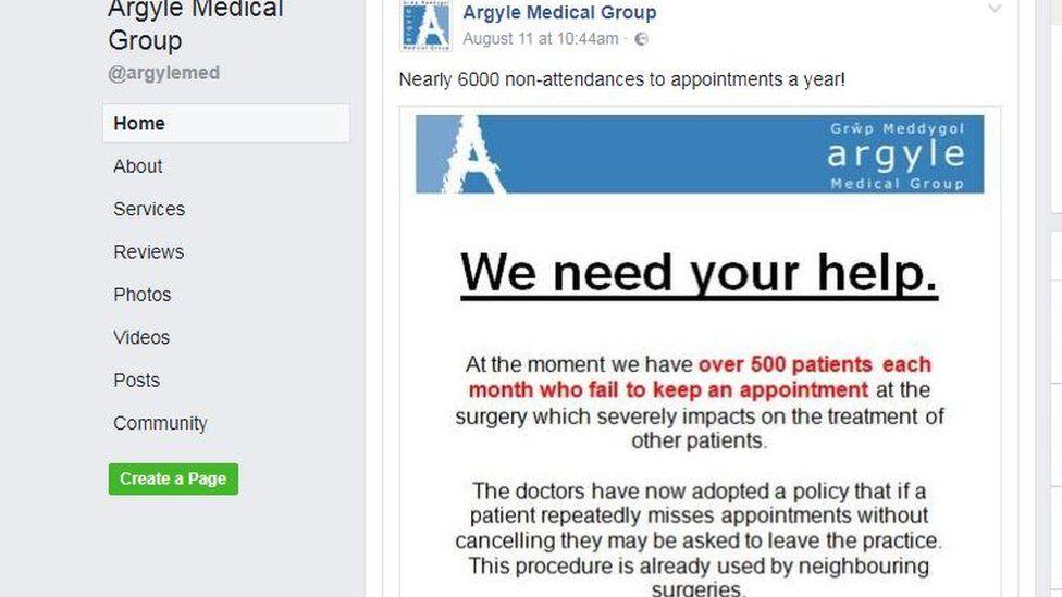 The Argyle Medical Group Facebook post