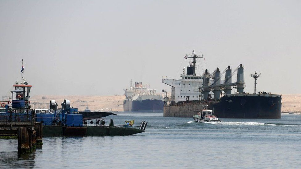 Ships using the Suez Canal in May 2021