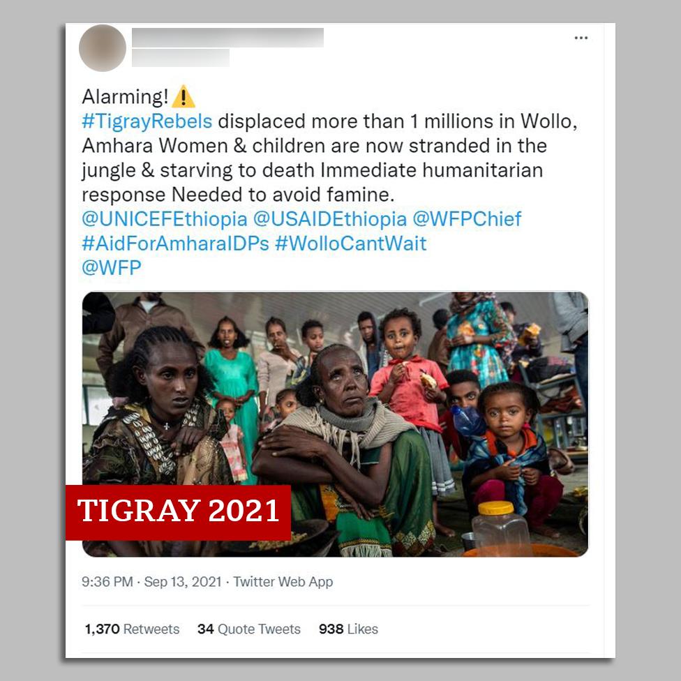 Säutsu ekraanipilt Tigray naiste ja laste pildiga