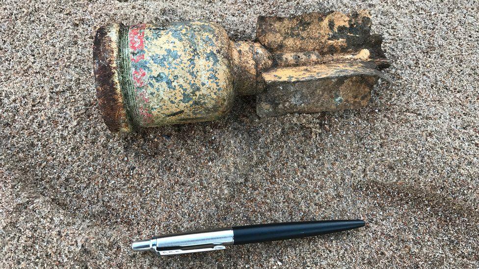 Mortar bomb found at Rosemarkie