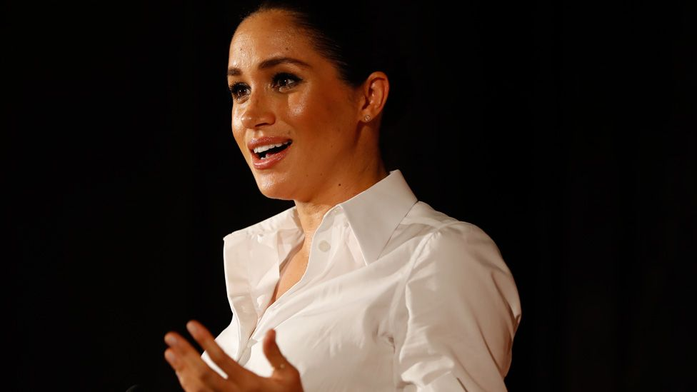 Meghan, Duchess of Sussex presents the Celebrating Excellence Award to Nathan Forster, , at the Endeavour Fund awards in February 2019