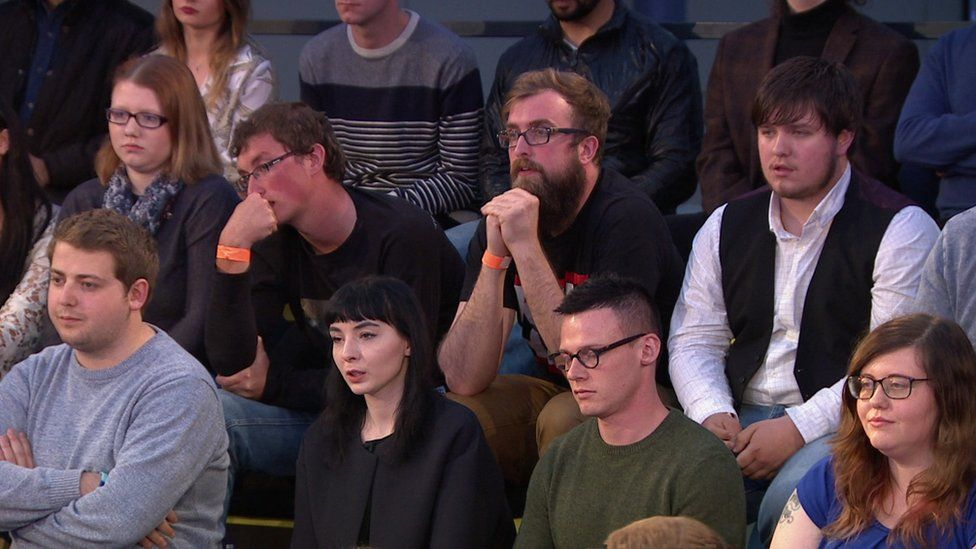 Young people involved in the debate