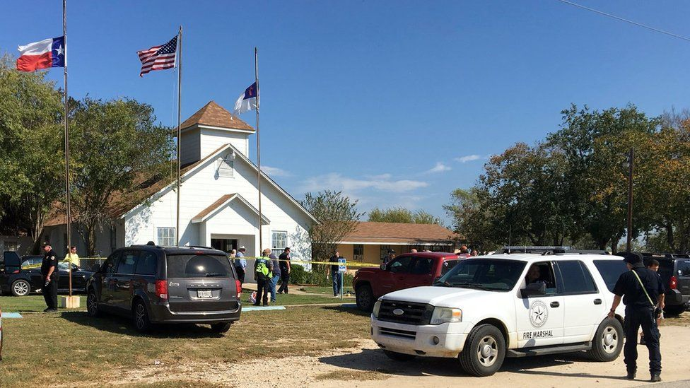 Church surrounded by police tape
