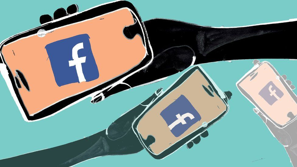 facebook on a phone