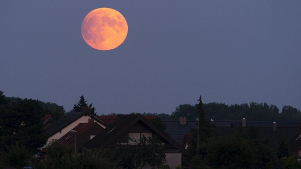 Lunar eclipse on 16 July 2019 viewed from Speyer, Germany