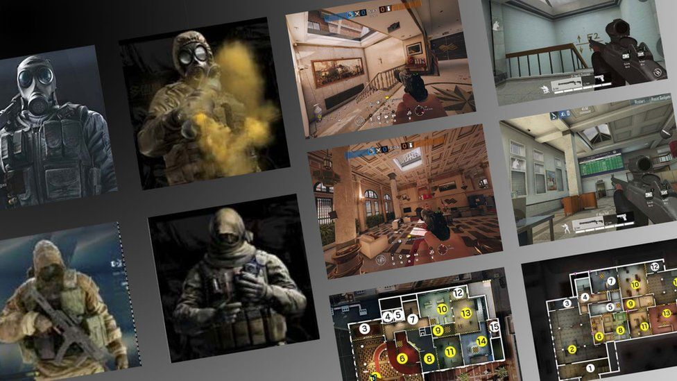 A grid layout shows several very similar thumbnail images of different game assets