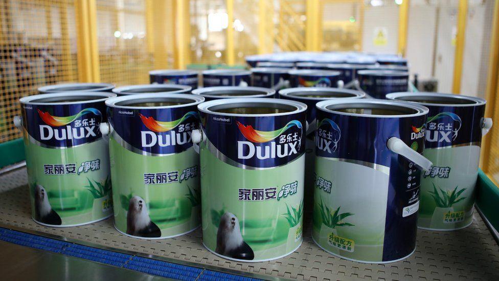 Dulux paint cans