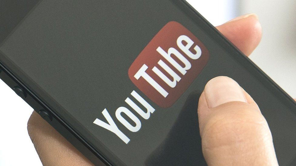 Phone with YouTube app