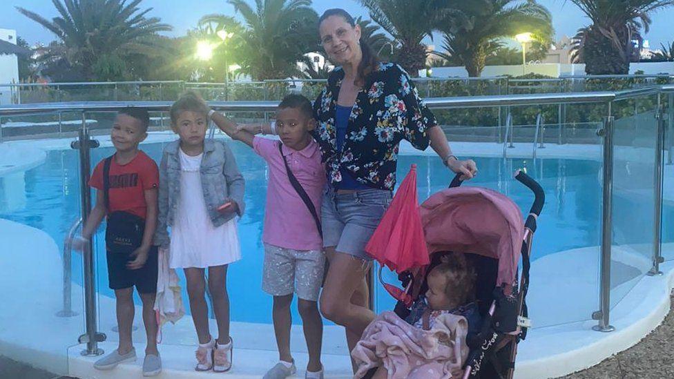 Zoey Davies and her children