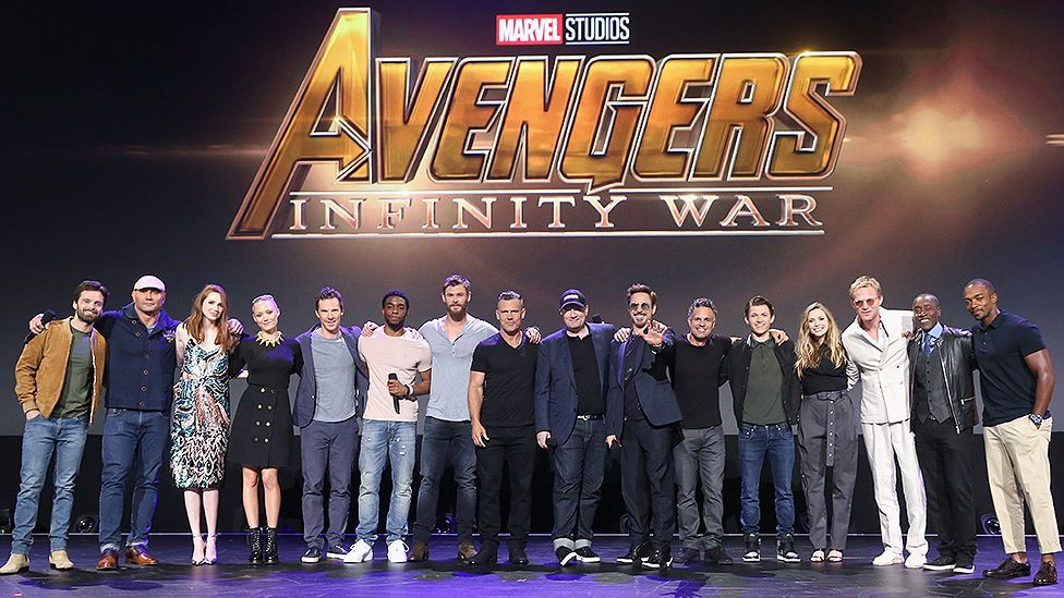 The cast of Infinity War