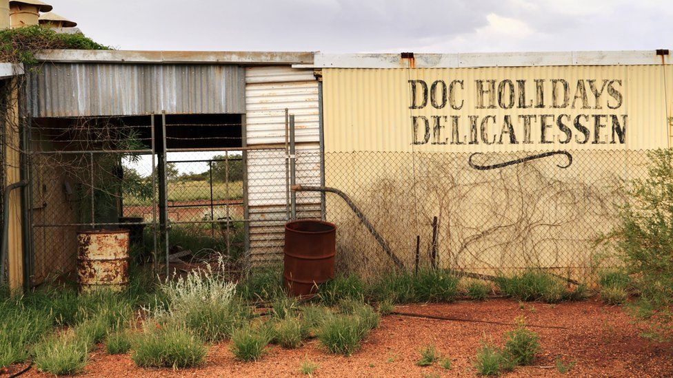 The abandoned Doc Holidays Delicatessen building in Wittenoom