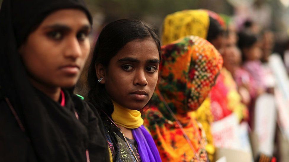 Bangladeshi women protesting in the capital Dhaka