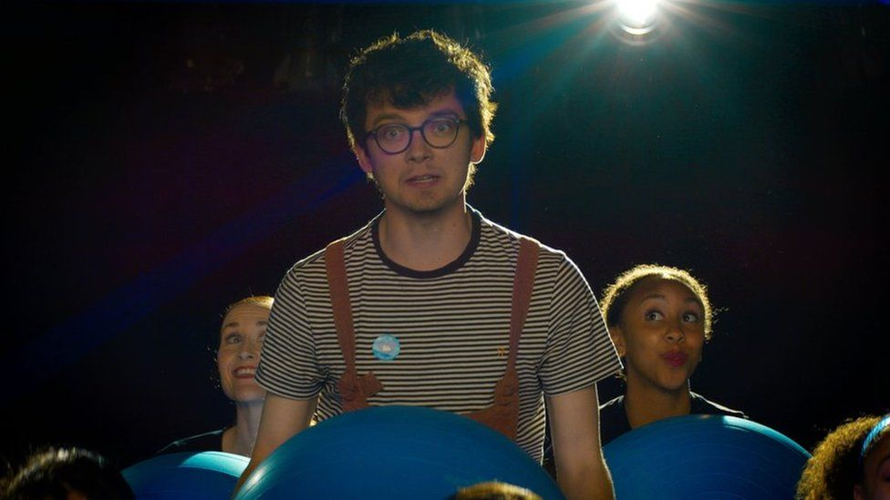 Actor Asa Butterfield appearing in the film supporting the Covid vaccine