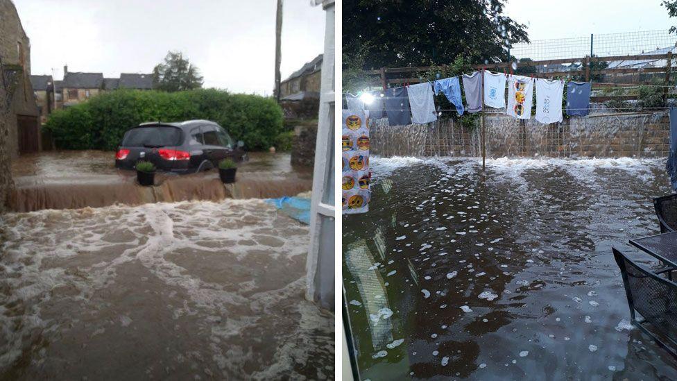 Flooding in Leyburn
