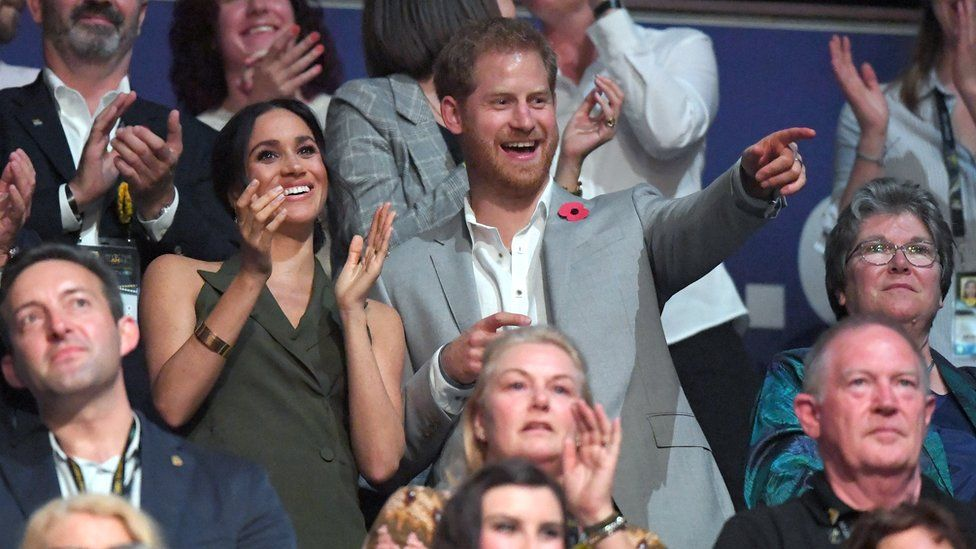 Prince Harry and Meghan at the Invictus Games closing ceremony 2018