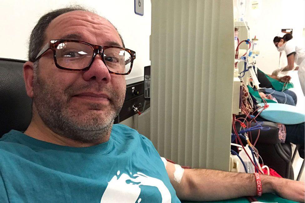 Javier Artigas having dialysis