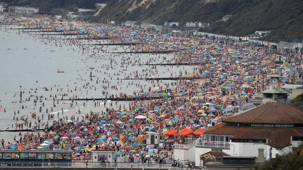 Bournemouth beach, summer 2020
