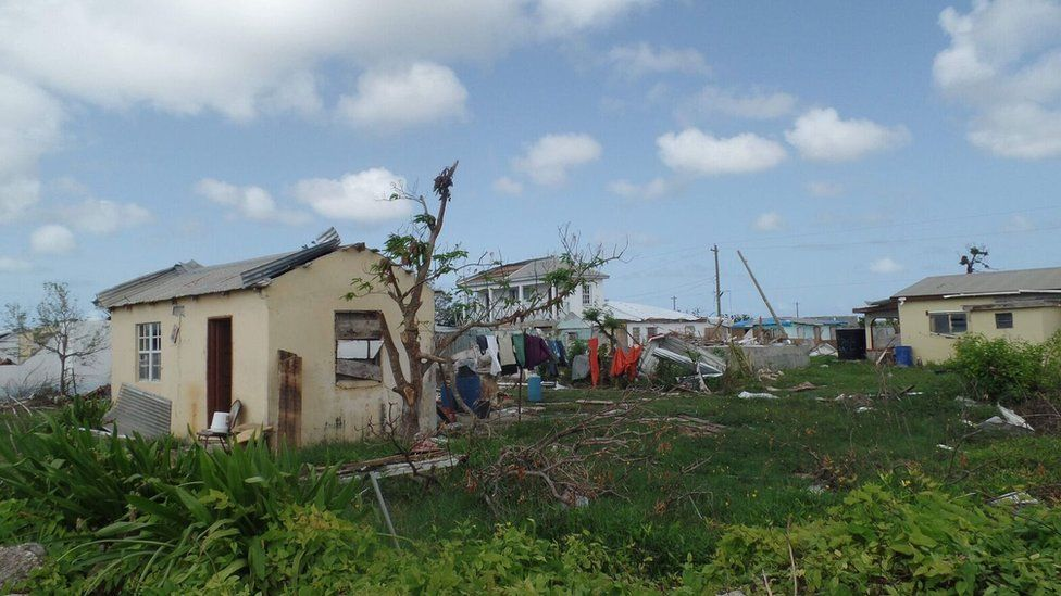 The damaged home Manoah De Souza has lived in most of his life.