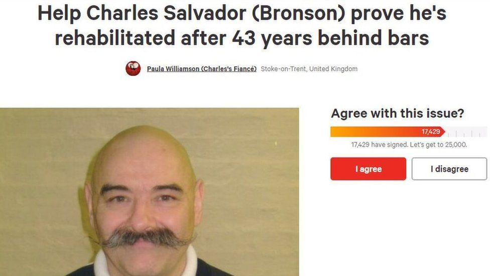 Change.org petition for Bronson's release