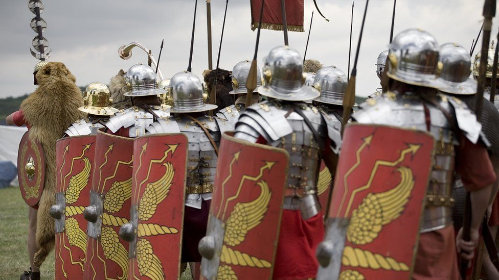 Roman soldiers marching