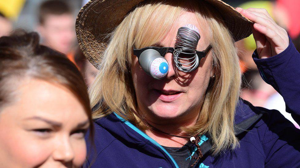 Spectators at the Belfast City Marathon