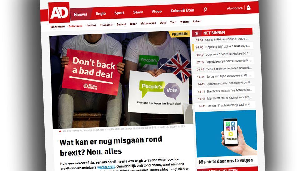 Screengrab from Algemeen Dagblad